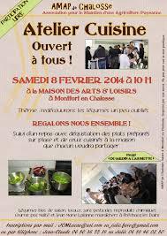 affiche atelier cuisine atelier cuisine le 8 février prochain amap chalosse