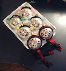 crafts glass ornament snowmen