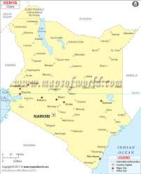 kenya cities map cities in kenya