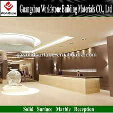 Lobby Reception Desk Acrylic Solid Surface Hotel Lobby Reception Desk Table Counter