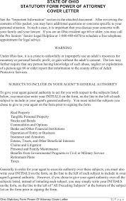 Alaska Power Of Attorney Form by Free Ohio Statutory Power Of Attorney Form Formxls