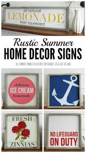 home decor offers summer home decor signs for a rustic modern look