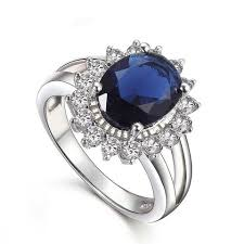 ring diana princess diana kivn womens fashion royal blue and cubic zirconia