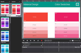 material design color palette for hype template gallery tumult