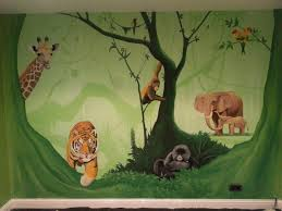 jungle wall stickers ebay large animal bedroom inspired tropical rainforest wallpaper hd jungle animal wall stickers kids room bedroom glamorous design ideas giant nursery decal