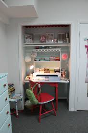 sewing room in a closet craft room desk small places purpose and