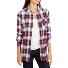 Halloween Maternity Shirts Walmart by Brooke Leigh Women U0027s Plaid Button Up Shi Walmart Com