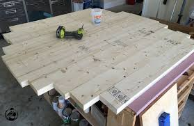 Diy Wood Dining Table Top by Round Trestle Dining Table Free Diy Plans Rogue Engineer