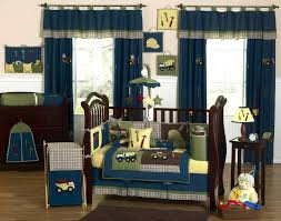Construction Crib Bedding Set Blue Green Construction Baby Boy Bedding 9pc Nursery Crib Set