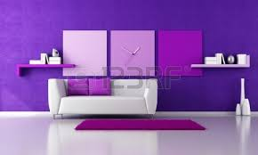 minimalist living room with sofa on carpet 3d rendering stock