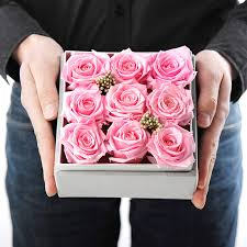 Preserve Flowers Valentine Day Rose Red Preserve Flowers Roses In Gift Box High