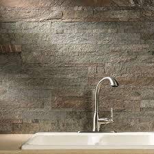 Aspect BacksplashStone Tile In Tarnished Quartz - Backsplash stone tile