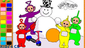teletubbies coloring page youtube