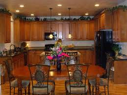 kitchen astounding greenery above kitchen cabinets what do you