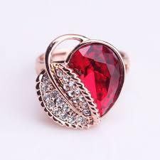 gold rings stones images Free epacket shipping 2015 fashion 18k rose gold leaf design ring jpg