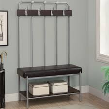 entryway rack decor metal entryway storage bench and coat rack plus black leather