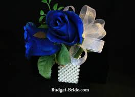 royal blue corsage wedding wrist corsage