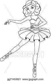 vector stock ballerina coloring clipart illustration