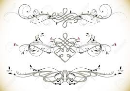 swirl floral vintage ornaments decoration vector royalty free