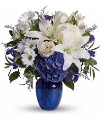 white and blue floral arrangements white blue floral arrangement pueblo co cbell s flowers