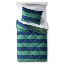 Blue Striped Comforter Set Rugby Stripe Comforter Set Pillowfort Target