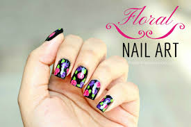 guest post floral nail art from atima aka nails by nemo lucys