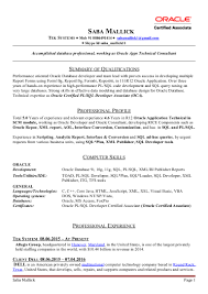 sample dba resume sql developer resume sample sample resume and free resume templates sql developer resume sample oracle database administrator sample resume financial sap security resumes with sle sql