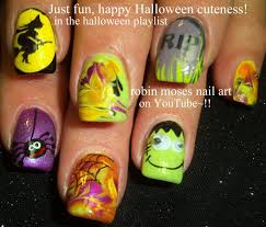 diy easy halloween drag marble nails design cute dry nail art