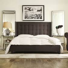 lovable tufted wingback headboard king inspire q marion dark gray