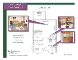 Efficient Studio Layout by Floor Plan U2013 Whispering Winds In Bend Oregon