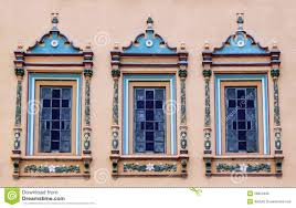 decorated windows royalty free stock photo image 28623485