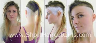 fades and shave hairstyle for women short haircut girls
