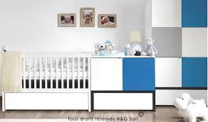 chambre bébé blanc mobilier évolutif pour chambre bébé en bois blanc et bleu