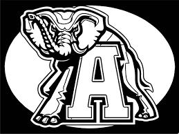 alabama crimson tide football logo coloring page wecoloringpage