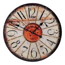 large grey shabby chic wall clock 12 000 wall clocks
