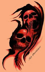 30 best ripped skin skull design and melting images on