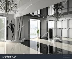 Modern Shop Interior Design Projectd Image Stock Illustration - Modern boutique interior design