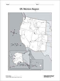 Blank Map Of The West Region by Us Western Region Blank