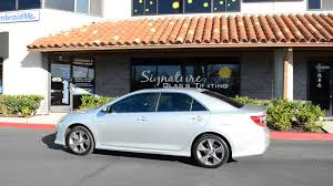 toyota camry limo signature glass tinting toyota camry wincos window film youtube
