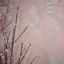 Living Room Art House Arthouse Meili Rose Gold Wallpaper Main Image Cottage Living