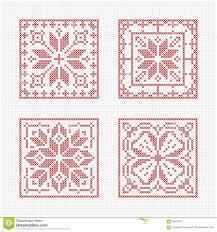 Free Cross Stitch Christmas Ornament Patterns Scandinavian Style Cross Stitch Pattern Stock Vector