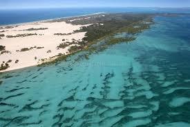 aerial photo of moreton island beauty u2014 above photography
