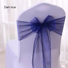 Cheap Wedding Chair Covers Aliexpress Com Buy Wholesale 100pcs Lot Diy Wedding Organza
