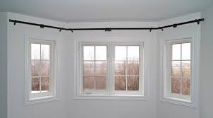 Curtains For Bay Window Bay Window Curtain Rods Beautiful Curtain Rods For Bay Windows