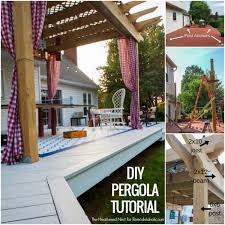 Building A Pergola Attached To The House by Remodelaholic Diy Pergola Tutorial How To Build Your Own