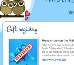 registry wedding website online gift registry for your wedding website weddingdonkey