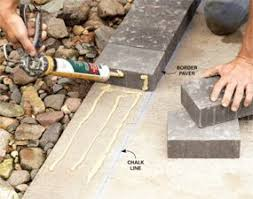 How Thick For Concrete Patio How To Cover A Concrete Patio With Pavers Concrete Patios