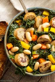 Main Dish Vegetables - sausage kale and white bean soup recipe runner