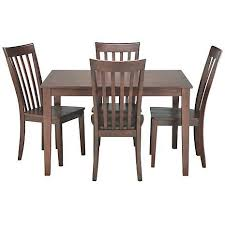 Arts And Crafts Dining Room Set Brown Tulum Leather Dining Room Set