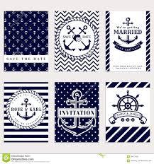 nautical wedding invitations nautical wedding invitations stock vector image 68672498